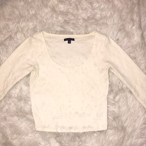 American Eagle cropped long sleeve